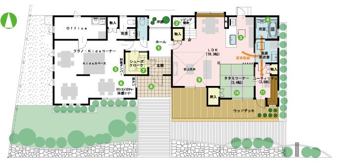 モデルハウス間取り(1階)